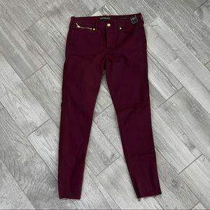 Abercrombie Burgundy Super Skinny Jeans